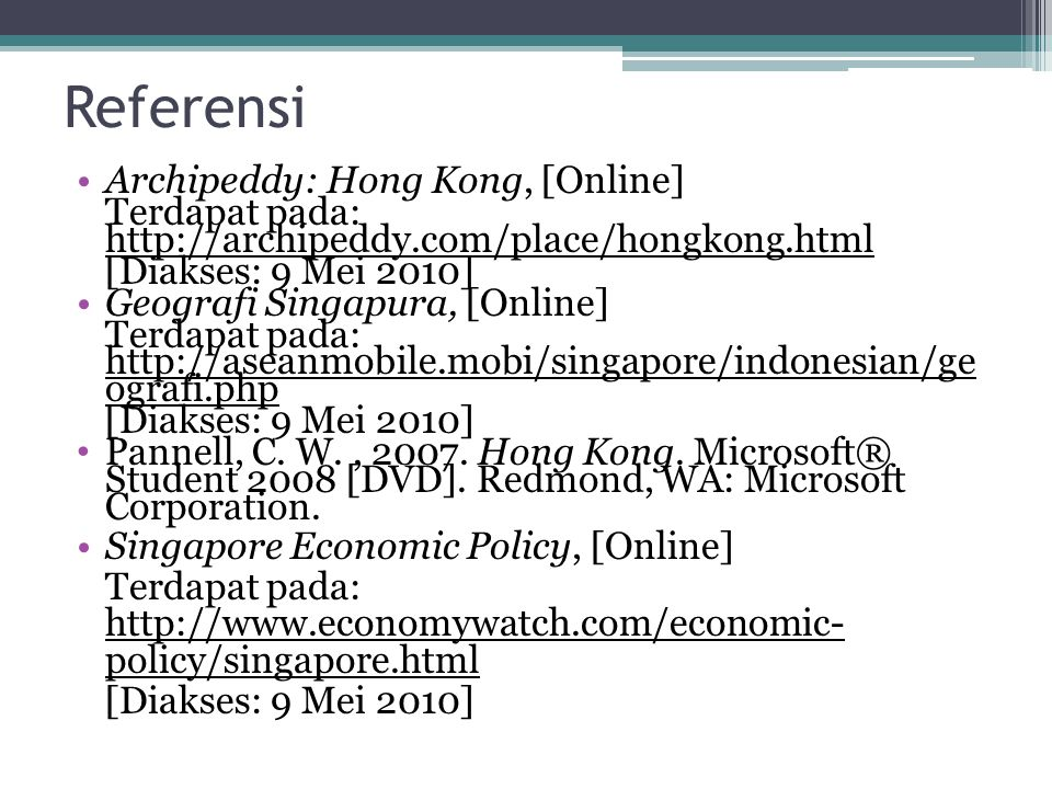 Referensi Archipeddy: Hong Kong, [Online]